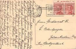 ITALIEN - ANSICHTSKARTE 1924 ROMA-FERROVIA - GELSENKIRCHEN /ak788 - Poststempel