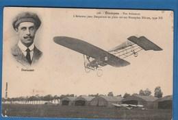328 ETAMPES NOS AVIATEURS L'AVIATEUR JEAN DESPARMET EN PLEIN VOL SUR MONOPLAN BLERIOT, TYPE XII - Piloten
