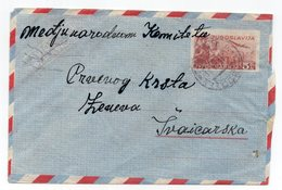1951 YUGOSLAVIA,MONTENEGRO,TITOGRAD TO GENEVA,SWITZERLAND,AIRMAIL STATIONERY COVER,USED - Airmail