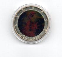 LIBERIA 10 DOLLAR 2002 CN HOLOGRAM FREEDOM STATUE VRIJHEIDSBEELD - DAMAGE ONLY ON CAPSEL - Liberia