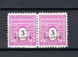 FRANCE  N° 711 EN PAIRE   NEUF SANS CHARNIERE  COTE 0.40€   ARC DE TRIOMPHE - France