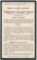 Torhout / Oostende / Doodsprent / Bidprent / Oorlogsslachtoffer / 1919 - Andachtsbilder