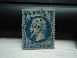 Timbre Napoléon III 20 C - EMPIRE FRANC  N° 22 Oblitéré. 532 - 1862 Napoleon III