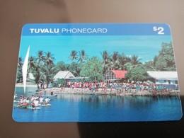 TUVALU SERIE 4 CARDS $2,$5,$10,$20,     MINT    **947** - Tuvalu