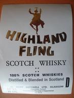 Ancienne étiquette  SCOTCH WHISKY Higland Fling - Whisky