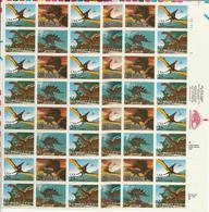 USA - 1989 Dinosaurs MNH** - Fogli Completi