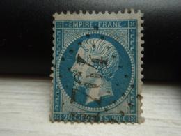 Timbre Napoléon III 20 C - EMPIRE FRANC  N° 22 Oblitéré. 1764 - 1862 Napoleon III