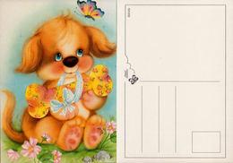 Illustration, Chien  Avec OS Et Papillon. European Greetings Série 531202 - Chiens