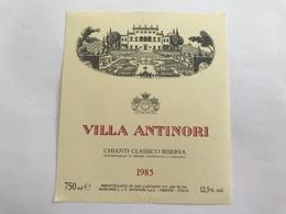 A7 Ancienne Étiquette VILLA ANTINORI 1985 FIRENZE  ITALIA - Other