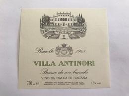 A7 Ancienne Étiquette VILLA ANTINORI 1988 FIRENZE  ITALIA - Other