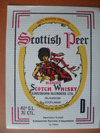 Ancienne étiquette  SCOTCH WHISKY  SCOTTISH PEER - Whisky