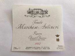 A7 Ancienne Étiquette TENUTE MARCHESE ANTINORI 1982 FIRENZE  ITALIA - Other