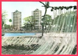 Guinée- CONAKRY- Séchage Des Filets Au Port De Pêche De BOULBINET - Au Fond  Logements Des Fonctionnaires* 2 SCANS *** - Guinea
