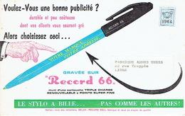 """Dépliant Publicitaire Stylo à Bille """"RECORD"""" - Advertising"""