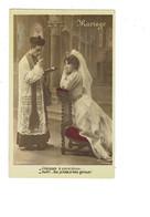 Carte Fantaisie Humour - MARIAGE - Prêtre Femme Mariée - Obéissez à Votre époux.. S'il Est à Mes Genoux - PRIE-Dieu - Marriages