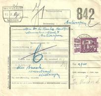 Postcolli No 323 Met Sterstempel UITBERGEN Op 16-X-1951 - 1942-1951