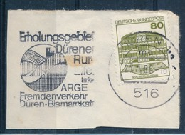 BRD Düren MWST 1986 Erholungsgebiet Düren Ruhr Fremdenverkehr Mi. 1140 Schloss Wilhelmsthal - Lettere