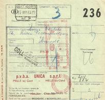 Postcolli Met Frankeerstempel GENT OOST 103 Op 15 III 63 - Bahnwesen