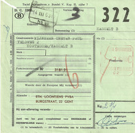 Postcolli Met Frankeerstempel BELGISCHE SPOORWEGEN C2 Op 14 III 63 - Bahnwesen