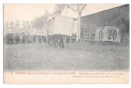 Semaine Aviation De Tournai 5-14 Septembre 1909 L'aéroplane De Paulhan Sorti Du Hangar Climan Ruyssers Non Circulée 3 - Airmen, Fliers