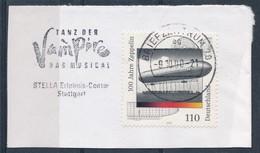 BRD BZ 70 MWST 2000 Tanz Der Vampire Das Musical Stuttgart Mi. 2128 Zeppelin - Luftschiff LZ 1 - Lettere