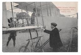 Semaine Aviation De Tournai 5-14 Septembre 1909 Paulhan Essais Du Moteur Climan Ruyssers Non Circulée 6 - Airmen, Fliers