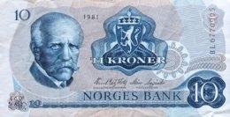 Norway 10 Kroner, P-36c (1981) - Very Fine - Noruega