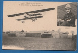 598 ETAMPES AVIATION LE CHEF MARC, SUR BIPLAN H. FARMAN - Piloten