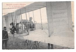 Semaine Aviation De Tournai 5-14 Septembre 1909 M. Paulhan Contrôle L'appareil Climan Ruyssers Non Circulée 8 - Airmen, Fliers