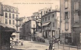 07-ANNONAY- PLACE DE LA LIBERTE ET MONTEE DU CHÂTEAU - Annonay