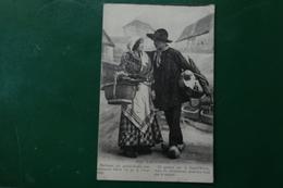 R 7 ) AUVERGNE COSTUME COUPLE VOIR RECTO VERSO - France