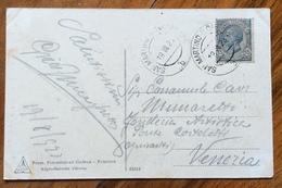 S.MARTINO DI CASTROZZA  B  19 VIII 23 Annullo Austriaco Su LEONI 15 C.CARTOLINA DOLOMITI DI PRIMIERO - VERSO S.MARTINO - Trento