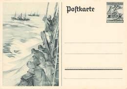 DEUTSCHES REICH - POSTKARTE 6PF WINTERHILFSWERK FISCHER /ak805 - Entiers Postaux