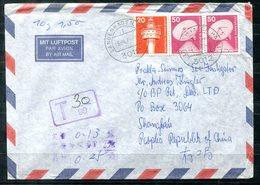 5919 - BUND ~ VR CHINA - Luftpostbrief Mit Nachgebühr Nach Shanghai - Lettere