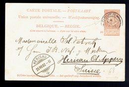 CP 2 ( 10c ) De Dover JY 24 02 => Herisau ( Suisse ) 25 VII 02 - Entiers Postaux