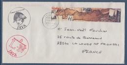 = Enveloppe Indonésie Pour La France 1 Timbre, Et Des Cachets Java, Grande Route Postale - Indonesien
