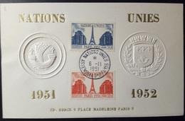 FRANCIA 1951 NAZIONI UNITE - Francia
