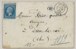 France Yv. 14 Sur Lettre LSC, PC 1424 Gracay, Dep. 17 Cher, Pothion Ind. 4 EUR 17 (339) - Marcophilie (Lettres)