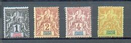Como 178 - YT 1 à 3 - 7 *  - Charnière Complète - Grande Comore (1897-1912)
