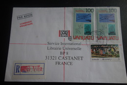 Lettre En Recommandée Affranchissement Philatélique - Vanuatu (1980-...)