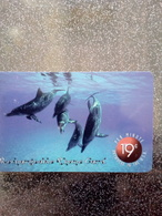 USA PREPAID NEW MEDIA TELECOM DOLPHIN DAUPHINS UT - Dolphins