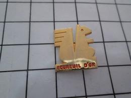 613b Pin's Pins / Beau Et Rare / THEME : ANIMAUX / ECUREUIL D'OR Qui Vous Pique Vos Noisettes Et Laisse Les Coquillles - Animaux