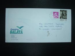 LETTRE Pour La FRANCE TP 5 P + TP REMERO VASCO 65 OBL.MEC.12-1 98 ROSES + CAMPING SALATA - 1991-00 Lettres