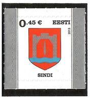Estonia 2013 . Definitive. COA Of Sindi 1v: 0.45; S/adh.   Michel # 758 - Estonie