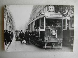 PHOTO - Tramway Parisien - Rue De La Pépinière - Vers 1925 - Trains