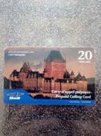 CANADA PREPAID QUEBEC BELL CHATEAU FRONTENAC 20$ UT - Canada