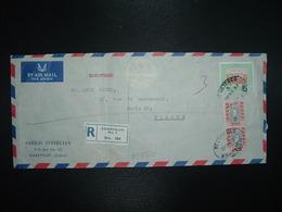 LR Pour La FRANCE TP SALUKA FARMING 5 PT + TP POLICEMAN 15 MMS Paire OBL.28 FE 57 REGISTERED KHARTOUM + SARKIS IZMIRLIAN - Soudan (1954-...)