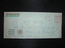 LETTRE Pour La FRANCE EMA PB 399 à 075 CENTS Du 8 III 76 SINGAPORE + TOKYO PRINCE HOTEL - Singapore (1959-...)