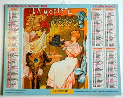 Calendrier - Almanach Du Facteur 1993 - LA MODISTE - LA COUTURIÈRE - J. CARTIER BRESSON - Nord - Photo J.C. CHARMET - Big : 1991-00