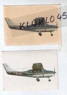 Deux  Autocollant JAC De La Gendarmerie Mationale : Avion Piper  En Plein Vol - Un Jauni Plus Ancien Sans Marque - Pegatinas